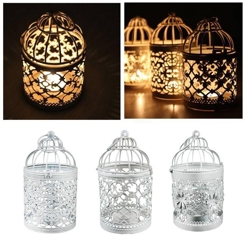 retro bird cage hollow candle holder candlestick