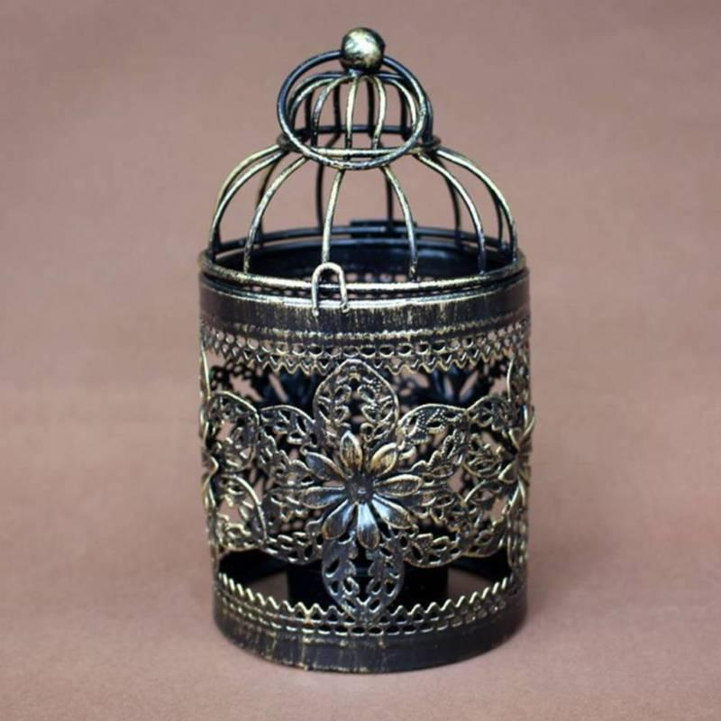 Retro Cage Hollow Candle Holder Tealight Candlestick Hanging Decor