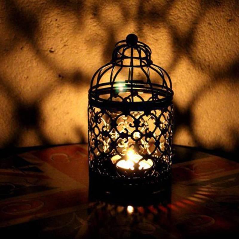 Retro Candle Holder Hanging Lantern