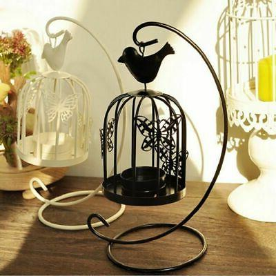 Vintage Metal Bird Cage Candle Holder Stand Hook Lantern Wed