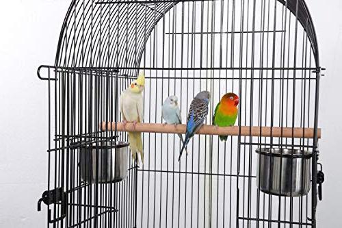 "Yaheetech 59"" Rolling Medium Bird Open Quaker Cockatiel Parakeet Green-Cheek Conure Canary Lovebird Parrotlet Cage Detachable"
