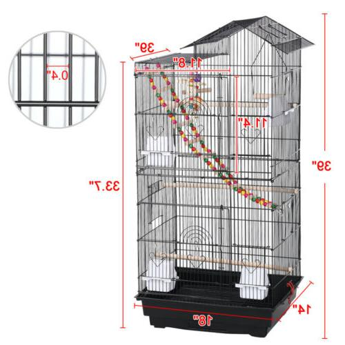 39''H Bird Parrot Cockatiel Conure Bird w/Toys