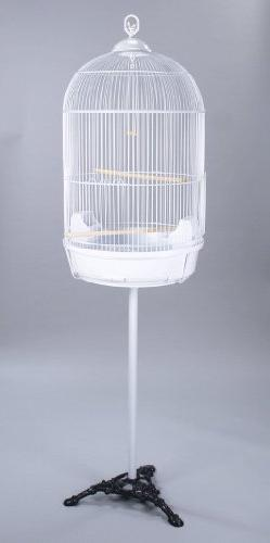 Round Bird Cage With Stand Finch Canary Cockatiel Parakeet D