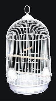 """ROUND BIRD CAGE Cockatiel Lovebird Finch Canary 13""""D X 24""""H"""