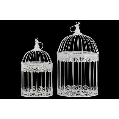 round metal nesting bird cage with dome