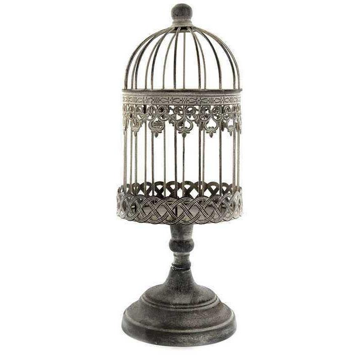 rustic antique vintage style ornate iron bird