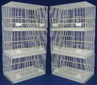 Brand New Lot of SIX Aviary Breeding Bird Cage Cages 24x16x1