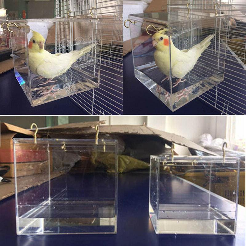us bird clean bathtub box parrot bath