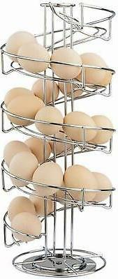 Spiral Design Stainless Steel Egg Skelter Dispenser Rack,Sto