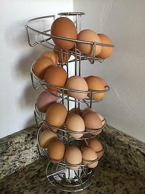 Toplife Spiral Design Steel Egg Skelter Dispenser Rack,Storage Display