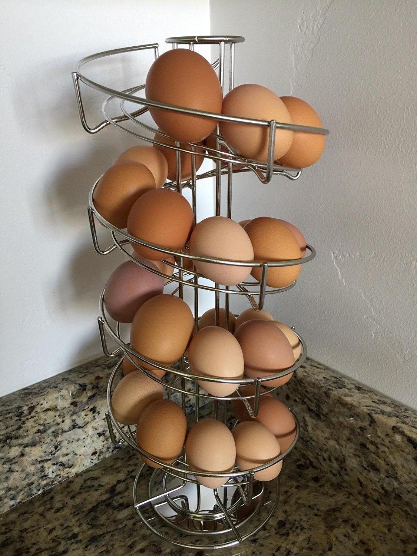 Toplife Spiral Design Steel Egg Skelter Rack,Storage Display