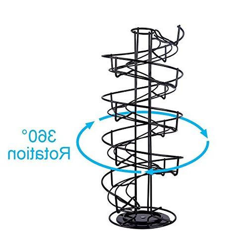Toplife Spiral Design Egg Display Rack,Black