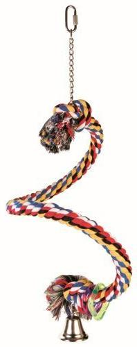 Trixie Spiral Rope Bird Perch, 50 Cm/Ø 21 Mm, For E.G. Para