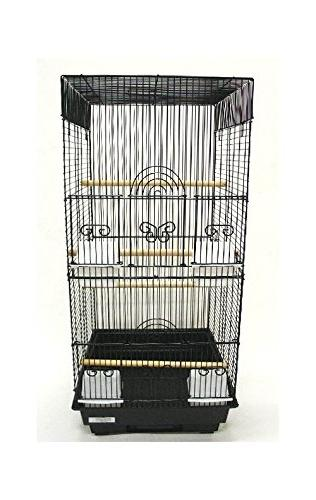 square 4 perch bird cage