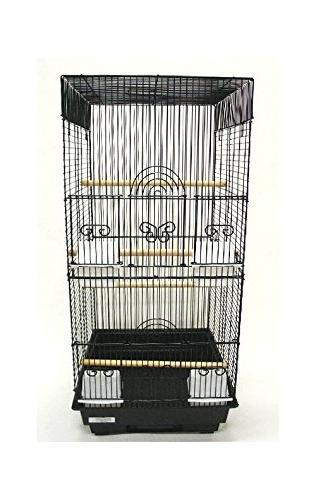 square 4 perch bird cage