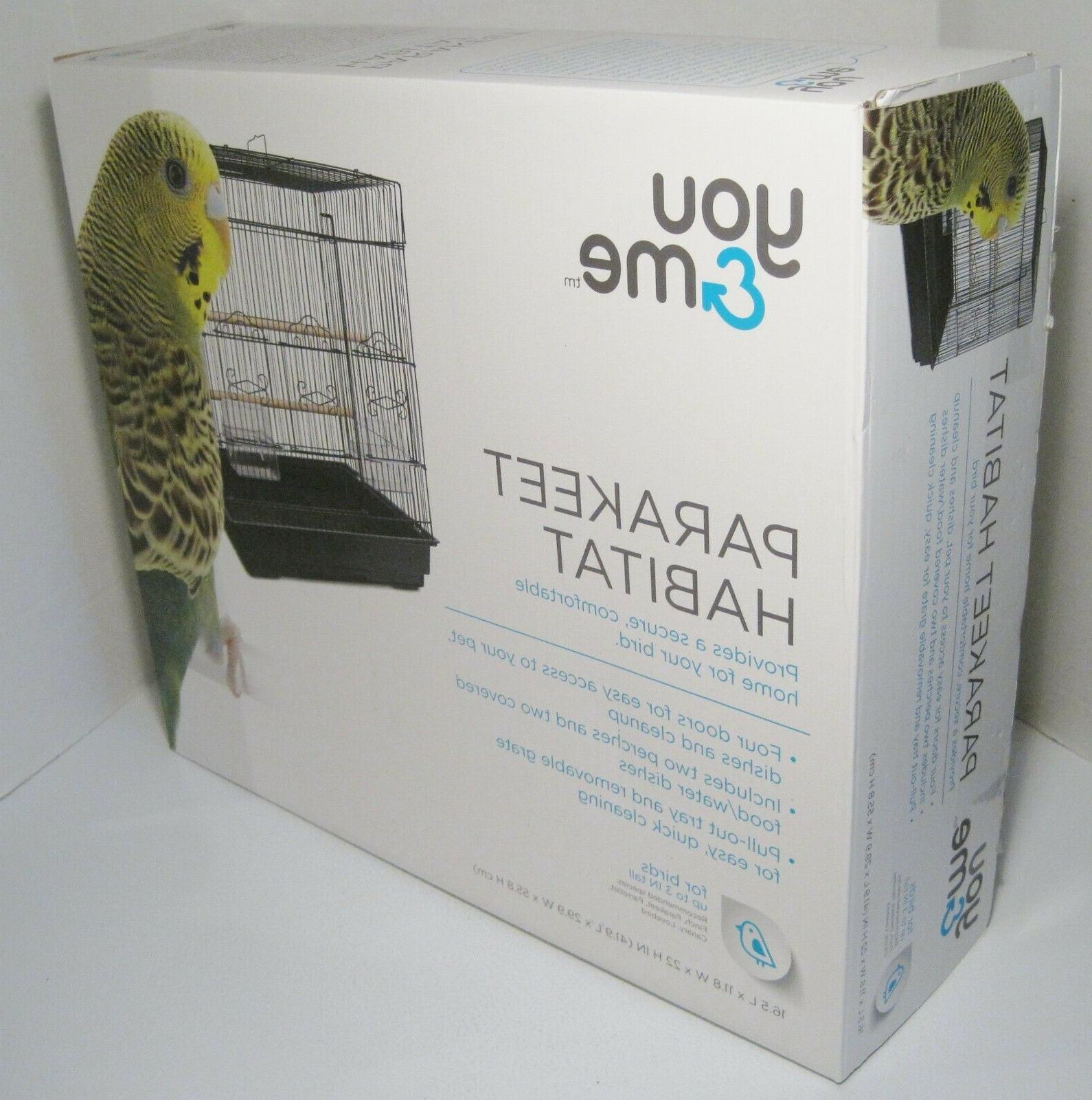 square parakeet cage