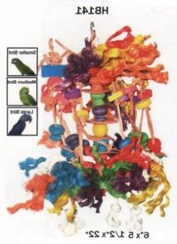 A&E Cage Company Small Squid Happy Beaks Bird Toy Wood/Rope