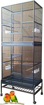 NEW LARGE Stackabel Double Bird Cockatiel Ferret Sugar Glide