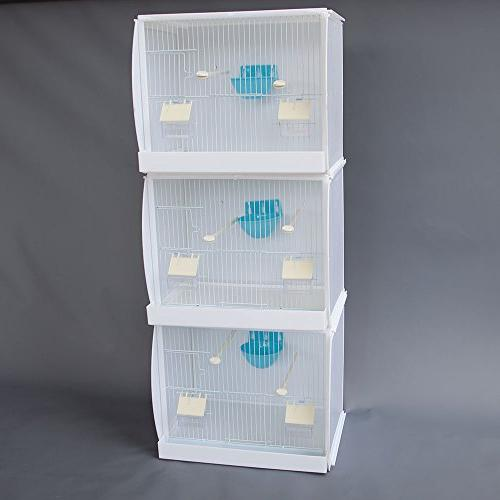 Lot Stackable Canary Finch Cage