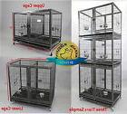"Homey Pet 43"" Stackable Dog Cat Heavy Duty Metal Cage w Bowl"