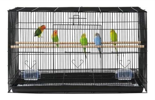 Stackable Finch Bird Cage for Canary w/ Tray, Black