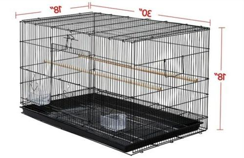 Stackable Finch Bird for Canary w/ Slide-out Tray,