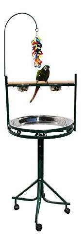 Birds LOVE Stainless Steel Tray, Non-Toxic, Powder Coated Pa