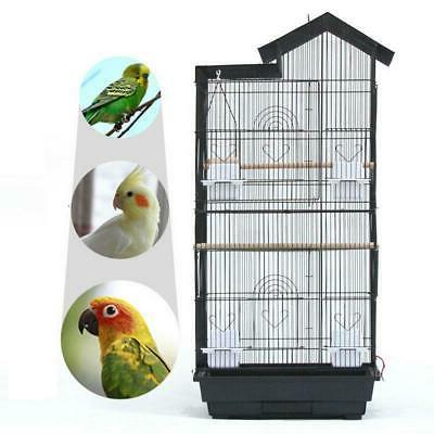 steel bird parrot cage canary parakeet cockatiel
