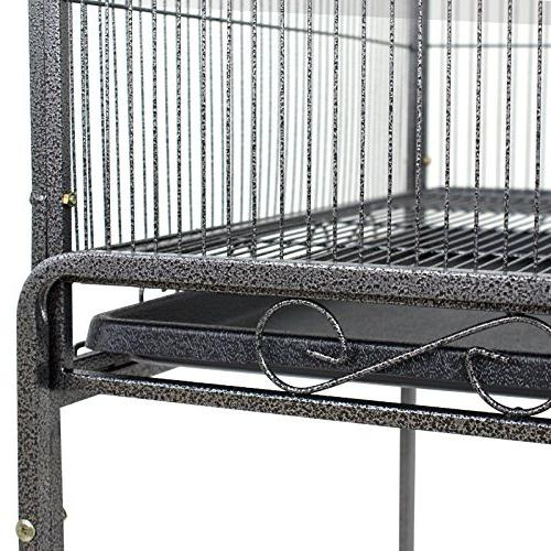 Bird Cage Play Top Parrot Cage Macaw Cockatiel Cockatoo Pet House, 53