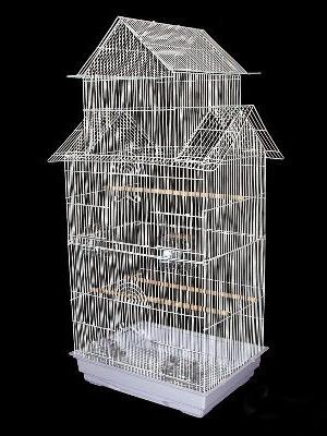 """Large Cockatiel Roof Top Bird Cage With Stand --18""""x14""""x64"""""""
