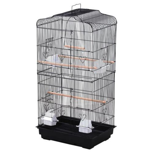 Large Tall Parakeet Finch Canary Cage Cage With Black NEW