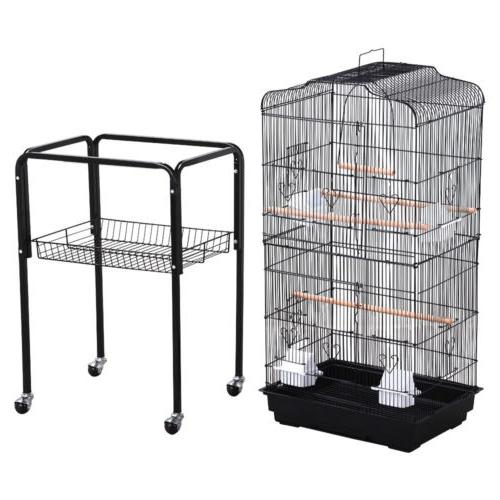 Large Tall Finch Cage Bird Cage Black NEW