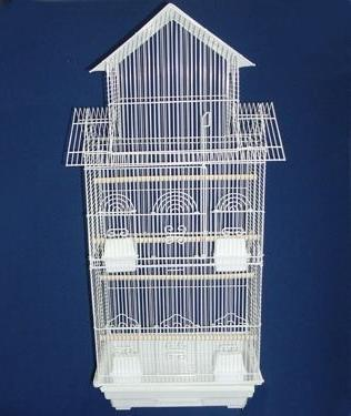 Mcage Tall Pagoda Lovebird Finch Cage with Stand