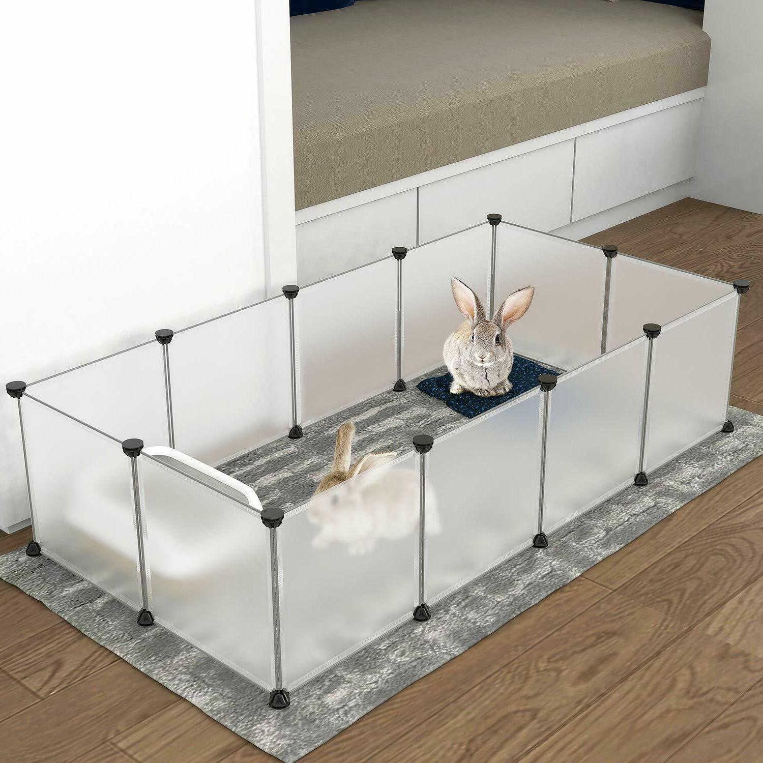 Pet Playpen Indoor Small Animal Cage Rabbit Guinea Pig Bunny