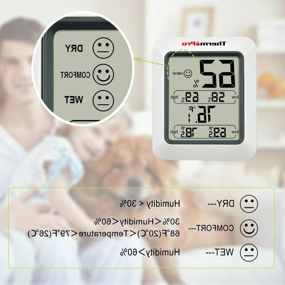 ThermoPro TP50 Digital Indoor Thermometer Humidity Monitor with
