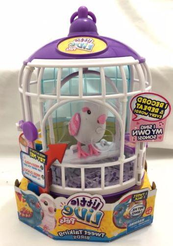 Little Live Pets Tweet Talking Birds White Pink Bella Rina w