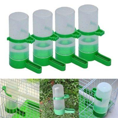 4X Bird Pet Drinker Food Feeder Waterer Clip for Aviary Cage