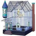 Victorian Parakeet Cockatiel Home Metal Bird Cage Décor Per