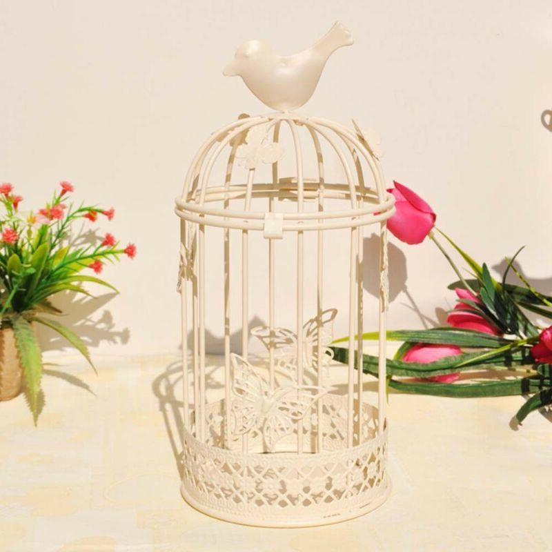 Vintage Bird Candle Holder Stand Hook Lantern Wedding Decoration