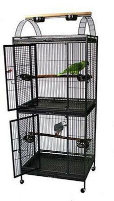 Waimea Wingplex Double Decker Wrought Iron Bird Canaries Par