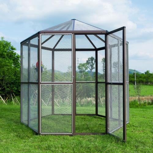 walk in aluminum bird aviary large cages
