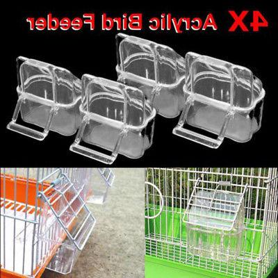 Water Feeders Health Bird Perch Cage Canary Food Container B