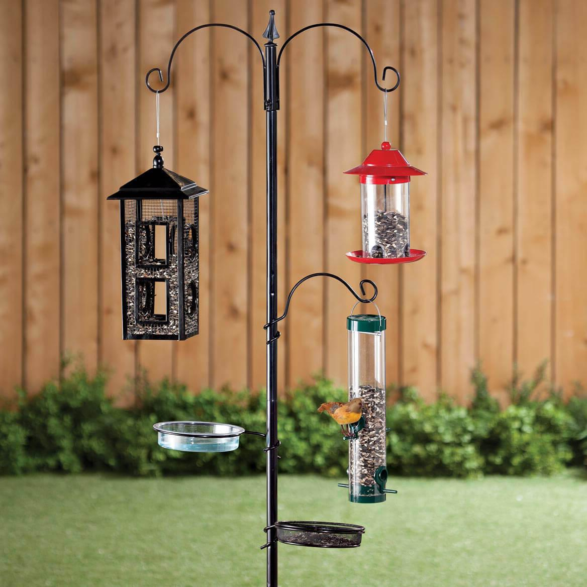 Wild Bird Feeder Stand Seed Tray Birds feeding Station Outdo