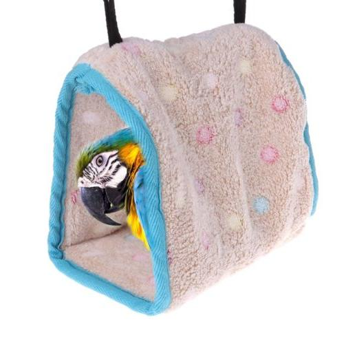 Winter Bird Plush Hut Tent Hanging Bed Nest Cage Hammock For