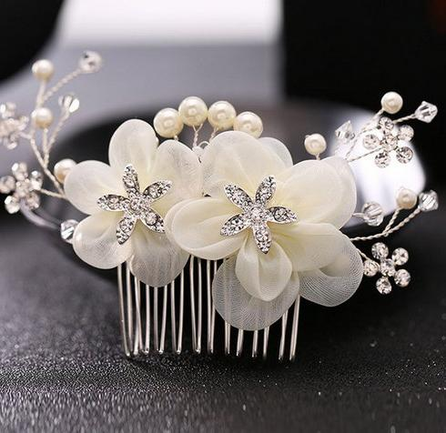 Leslie Hair Comb Sprays and Birdcage Bridal One 27-517
