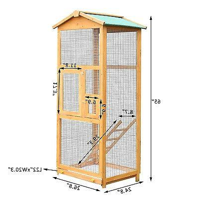 Wooden Large Bird House Stand Outdoor