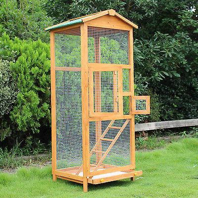 Wooden 65? Pet Play Covered House Feeder Outdoor