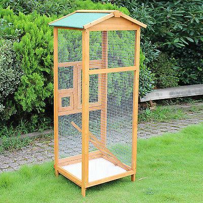Wooden Bird 65? House Feeder Stand Outdoor