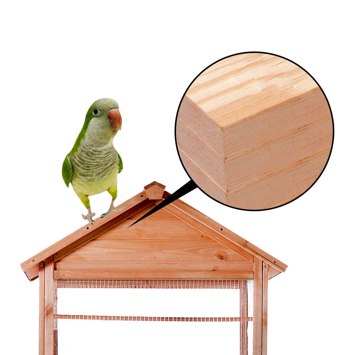 Wooden Bird Cage Cockatiel