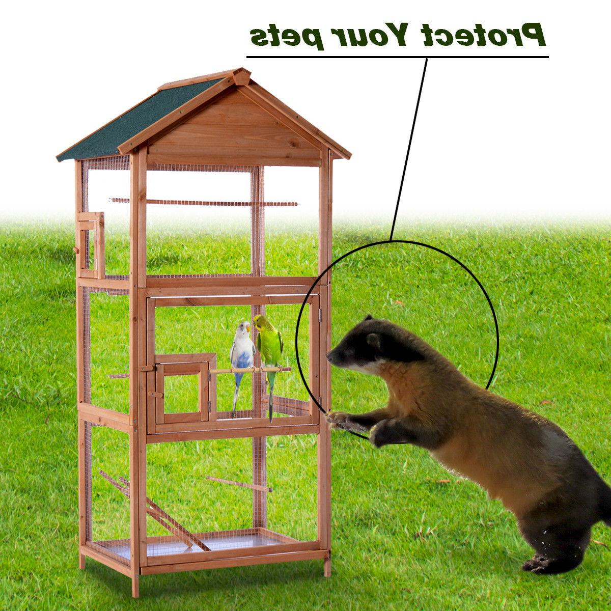Wooden Cockatiel Parakeet Play House